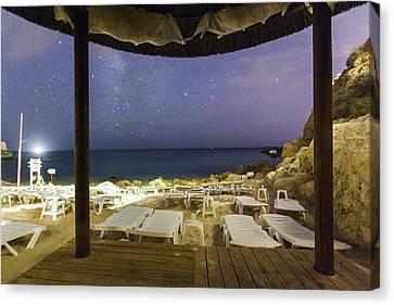 Starry Sky At Praia Do Castelo Canvas Print