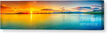 Philippines Canvas Print - Sunset Panorama by MotHaiBaPhoto Prints