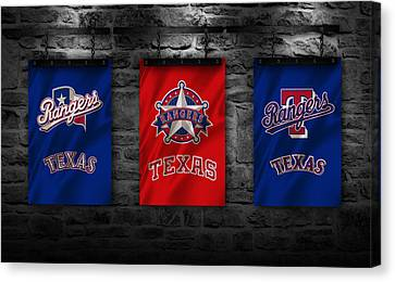 Texas Rangers Canvas Print by Joe Hamilton