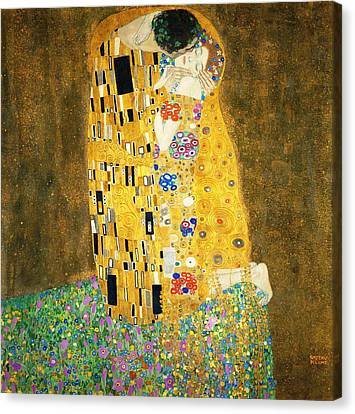The Kiss Canvas Print by Gustav Klimt
