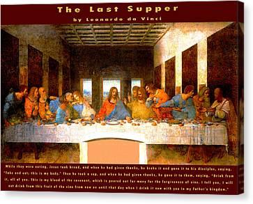 The Last Supper  Canvas Print by Leonardo da Vinci