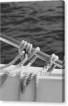 Salt Air Canvas Print - The Ropes by Laura Fasulo