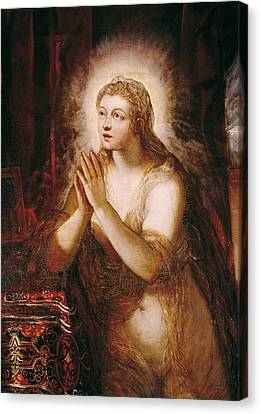 The Sacred Feminine Canvas Print - Tintoretto, Jacopo Robusti, Called Il by Everett