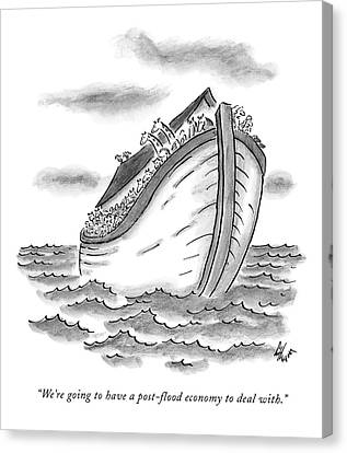 Ark Canvas Print - We're Going To Have A Post-flood Economy To Deal by Frank Cotham