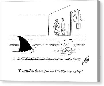 Industry Canvas Print - You Should See The Size Of The Shark The Chinese by Glen Le Lievre