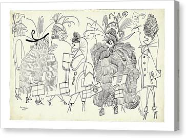 New Yorker December 13th, 2004 Canvas Print by Saul Steinberg