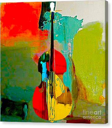 Orchestra Canvas Print - Upright Bass by Marvin Blaine