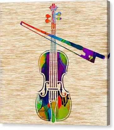 Musicians Canvas Print - Violin by Marvin Blaine