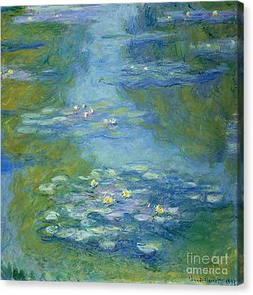 Dates Canvas Print - Waterlilies by Claude Monet