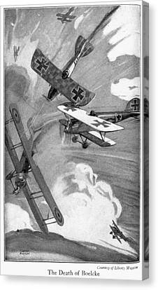 World War I Aerial Combat Canvas Print by Granger
