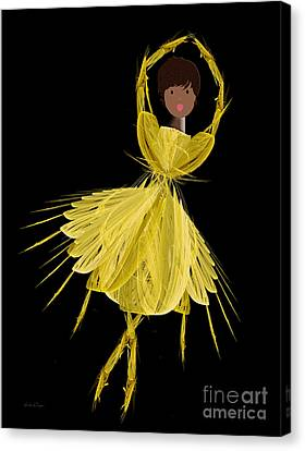 8 Yellow Ballerina Canvas Print by Andee Design