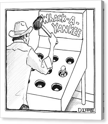 Yankees Canvas Print - New Yorker August 7th, 2006 by Matthew Diffee