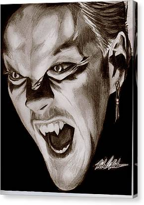 80's Vampire Canvas Print by Michael Mestas