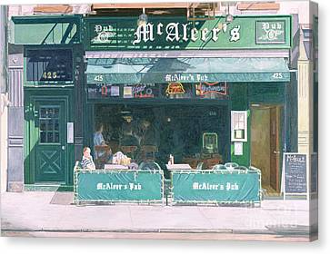 80th And Amsterdam Avenue Canvas Print by Anthony Butera