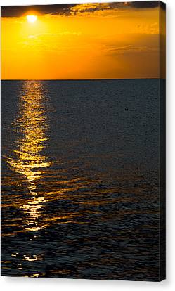 Canvas Print featuring the photograph 8.16.13 Sunrise Over Lake Michigan North Of Chicago 003 by Michael  Bennett