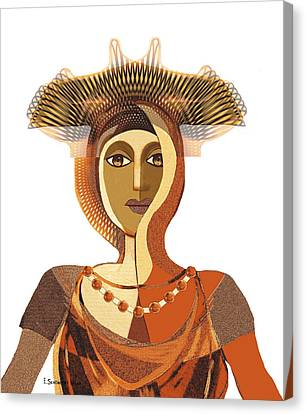 821 - Byzantine Princess Canvas Print by Irmgard Schoendorf Welch