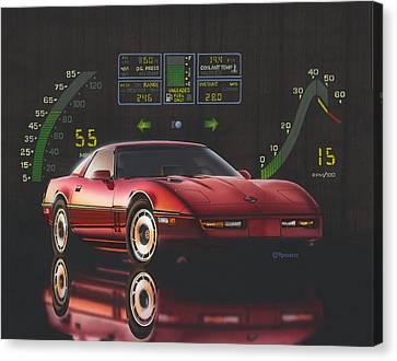 84 Corvette Canvas Print