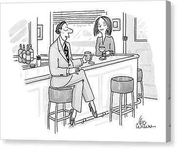 New Yorker August 11th, 2008 Canvas Print by Leo Cullum