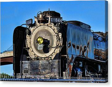 844 Locomotive Canvas Print