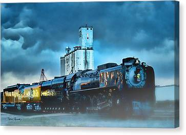 844 Night Train Canvas Print
