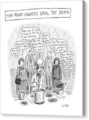 Advice Canvas Print - New Yorker May 21st, 2007 by Roz Chast
