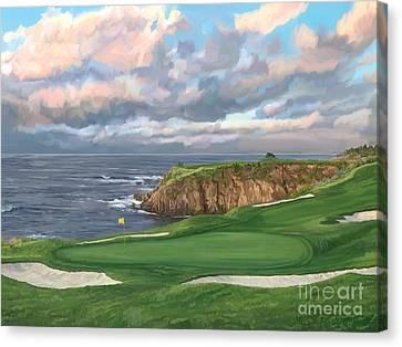 8th Hole Pebble Beach Canvas Print