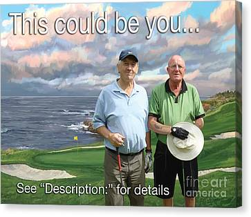 Canvas Print featuring the painting 8th Hole Pebble Beach by Tim Gilliland