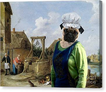 Pug Art Canvas Print Canvas Print by Sandra Sij