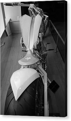 9/11 Memorial Bike In Black And White Canvas Print by Rob Hans