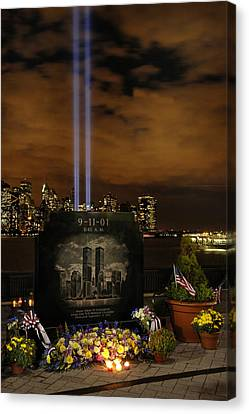 9-11 Monument Canvas Print by Dave Mills