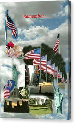 9-11 Remembrance Canvas Print