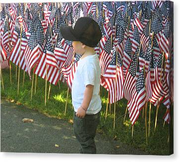 Canvas Print featuring the photograph 9 /11s New Generation by Bruce Carpenter