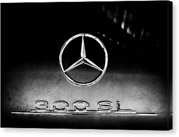 1955 Mercedes-benz Gullwing 300 Sl Emblem Canvas Print