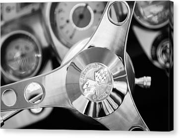 1960 Chevrolet Corvette Steering Wheel Emblem Canvas Print by Jill Reger