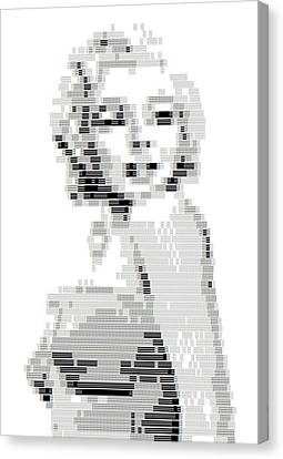 A S C I I Art Marilyn Monroe Canvas Print