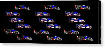 9 Audis And 9 Peugeots Canvas Print by Asbjorn Lonvig