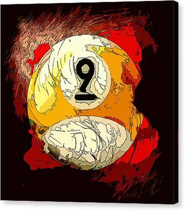 9 Ball Billiards Abstract Canvas Print