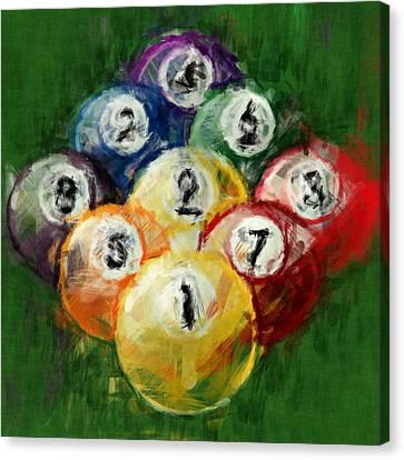 9 Ball Rack Abstract Canvas Print