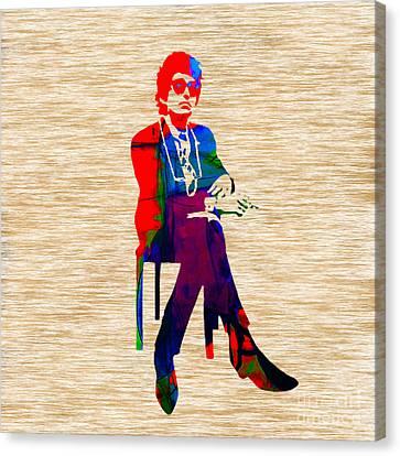 Bob Canvas Print - Bob Dylan by Marvin Blaine