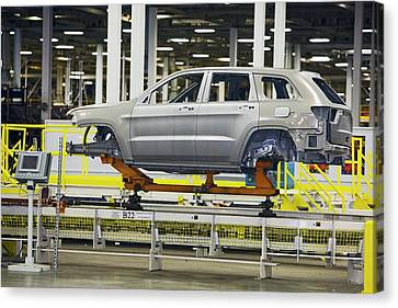 Car Production Assembly Line Canvas Print by Jim West