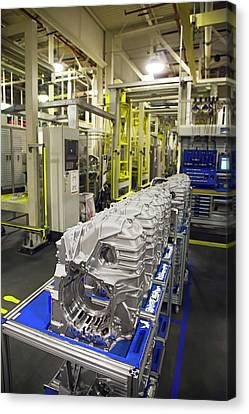 Car Transmission Assembly Line Canvas Print by Jim West