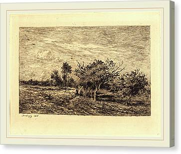 Apple Tree Canvas Print - Charles-françois Daubigny French, 1817-1878 by Litz Collection