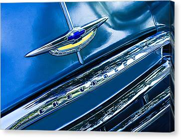 Grill Canvas Print - Chevrolet Grille Emblem by Jill Reger