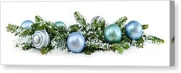 Snow Flake Canvas Print - Christmas Ornaments by Elena Elisseeva