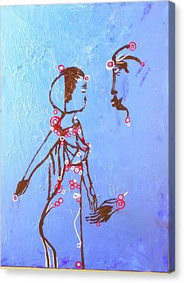 South Sudan Wedding Canvas Print - Dinka Embrace by Gloria Ssali