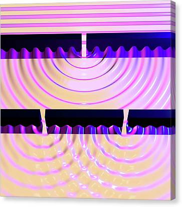 Double-slit Experiment Canvas Print by Russell Kightley