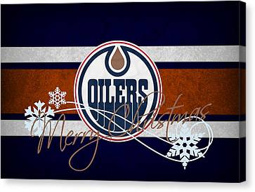 Edmonton Canvas Print - Edmonton Oilers by Joe Hamilton