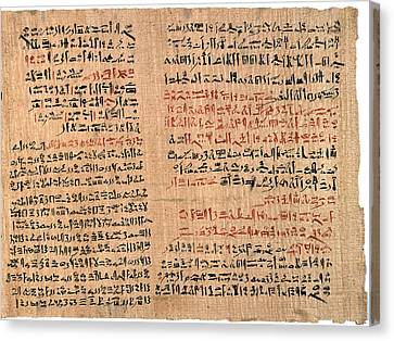 Edwin Smith Papyrus Canvas Print