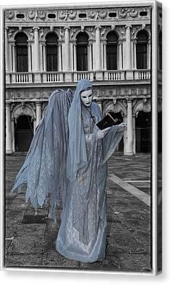 Elaborate Costume For Carnival Venice Canvas Print by Darrell Gulin