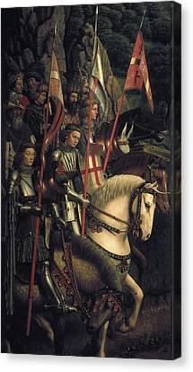 Chivalrous Canvas Print - Eyck, Jan Van 1390-1441 Eyck, Hubert by Everett